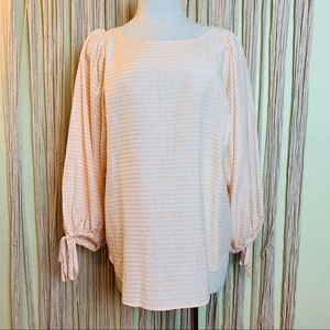 LAST CHANCE Ann Taylor Oversized Striped Blouse